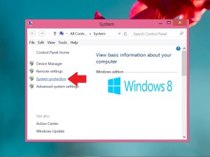 Windows 8.1 Control Panel System Menu